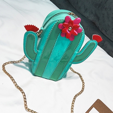 Lovely Chic Cactus Shaped Green Clutches Bags