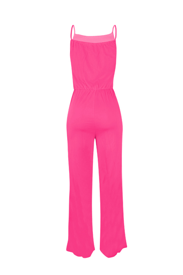 lovelywholesale / Lovely Trendy Loose Red One-piece Jumpsuit