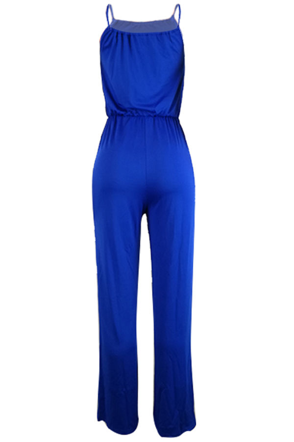 Lovely Euramerican Loose Blue One-piece Jumpsuit