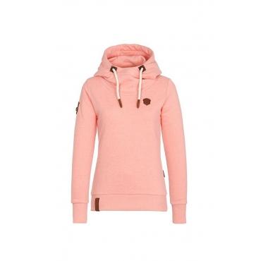 Lovely  Casual Long Sleeves Drawstring Pink Grey Hoodies