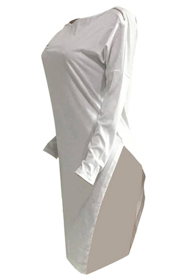 Encantadora Camiseta Asimétrica De Mezcla Blanca Asimétrica