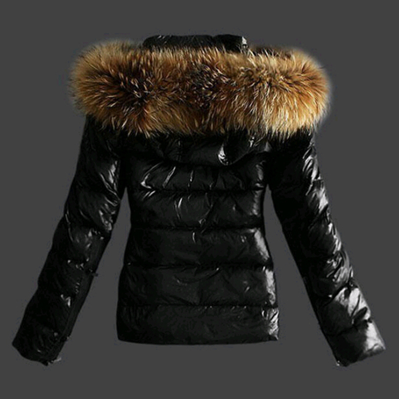 Lovely Euramerican Hooded Collar Black Faux Fur Coat
