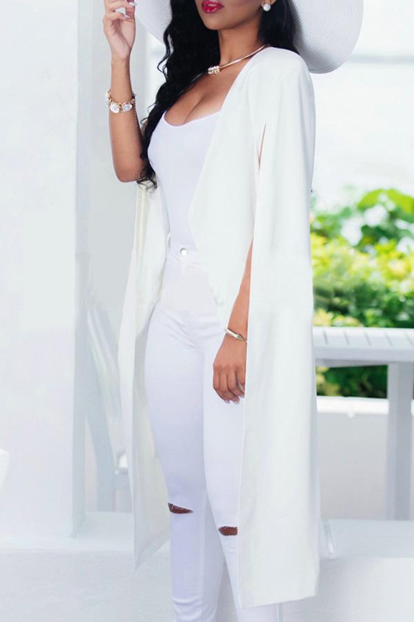 Lovely Euramerican Work White Blazer