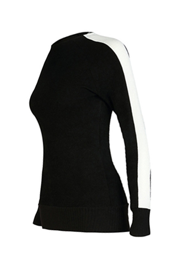 Lovely Trendy Patchwork Black Knitting Sweaters