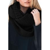 Lovely Euramerican Chunky Black Knitting Scarves