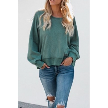Lovely Vogue Backless Green Hoodies