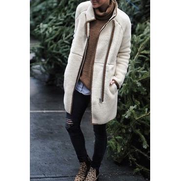 Lovely Polyester Casual Long Long Sleeve Coat&Jacket