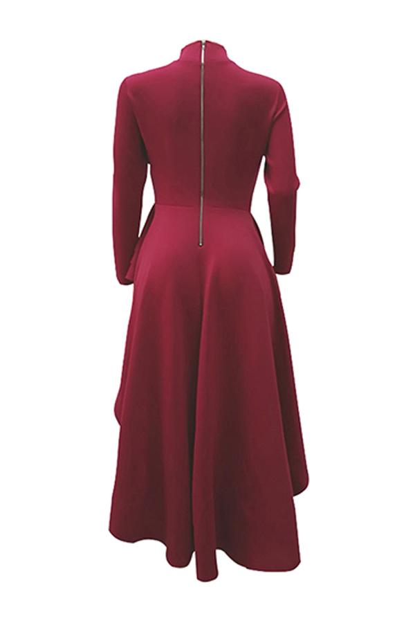 Lovely Euramerican Asymmetrical  Red  Blouses