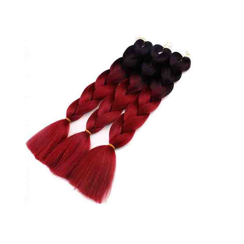 Lovely African Gradual Change Wine Red Wigs