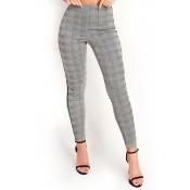 Lovely Euramerican Grids Printed Blending Pants