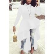 Encantadoras Blusas Blancas Asimétricas Euramerican