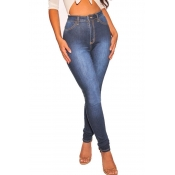 Lovely Casual Skinny Deep Blue Denim Jeans