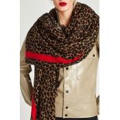 Lovely Trendy Patchwork Leopard Blended Scarves
