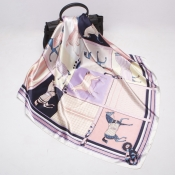 Lovely Chic Printed Light Purple Scarves