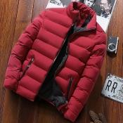 Lovely Euramerican Zipper Design Wine Red Cotton C