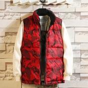 Lovely Sportswear Graffiti Red Cotton Vests