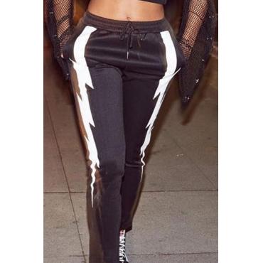 Lovely Modern Patchwork Black Pants