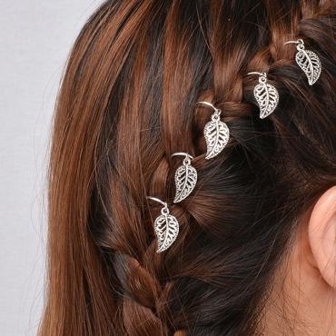 Lovely Euramerican Leaf Shape Silver Hairpin(Five)