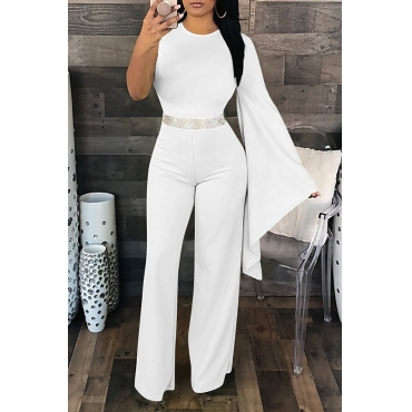 Lovely Elegant Asymmetrical White One-piece Jumpsuit(Not Including Accessories)