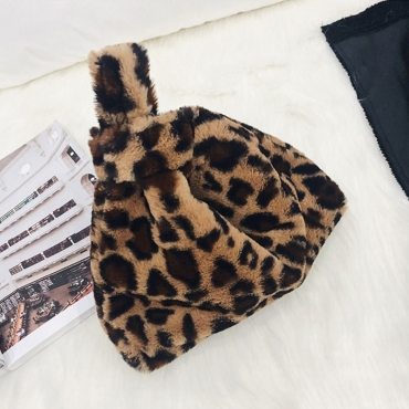 Lovely Vintage Leopard Brown Clutches Bags