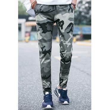 Lovely Euramerican Camouflage Printed Grey Blending  Pants