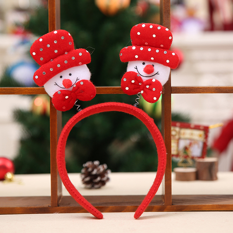 Lovely Fashion Christmas Snowman Red Hairpin