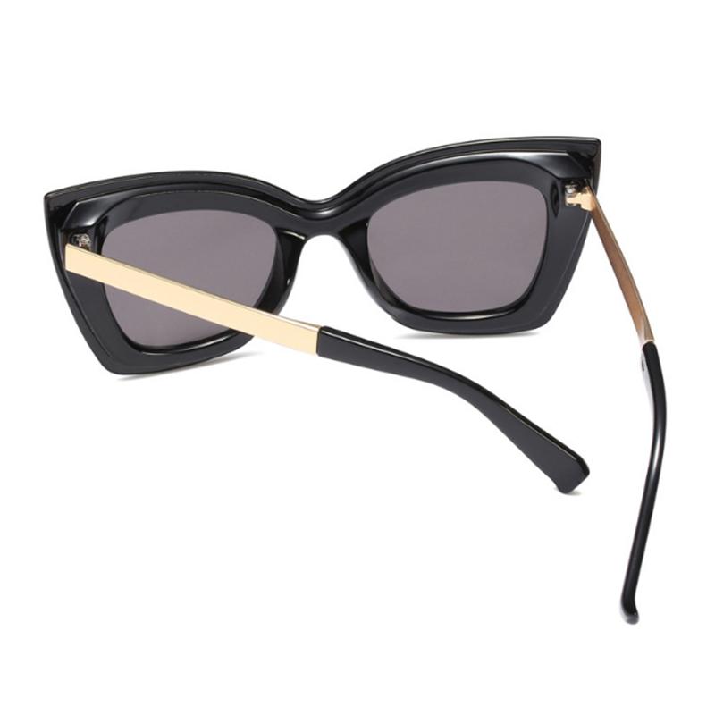 Lovely Fashion Cat Eye Large Frame Black Sunglasses