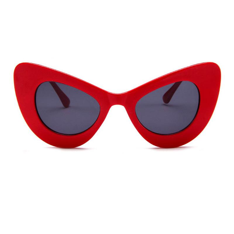 Lovely Chic Cat s Eye Frame Design Red PC Sunglasses