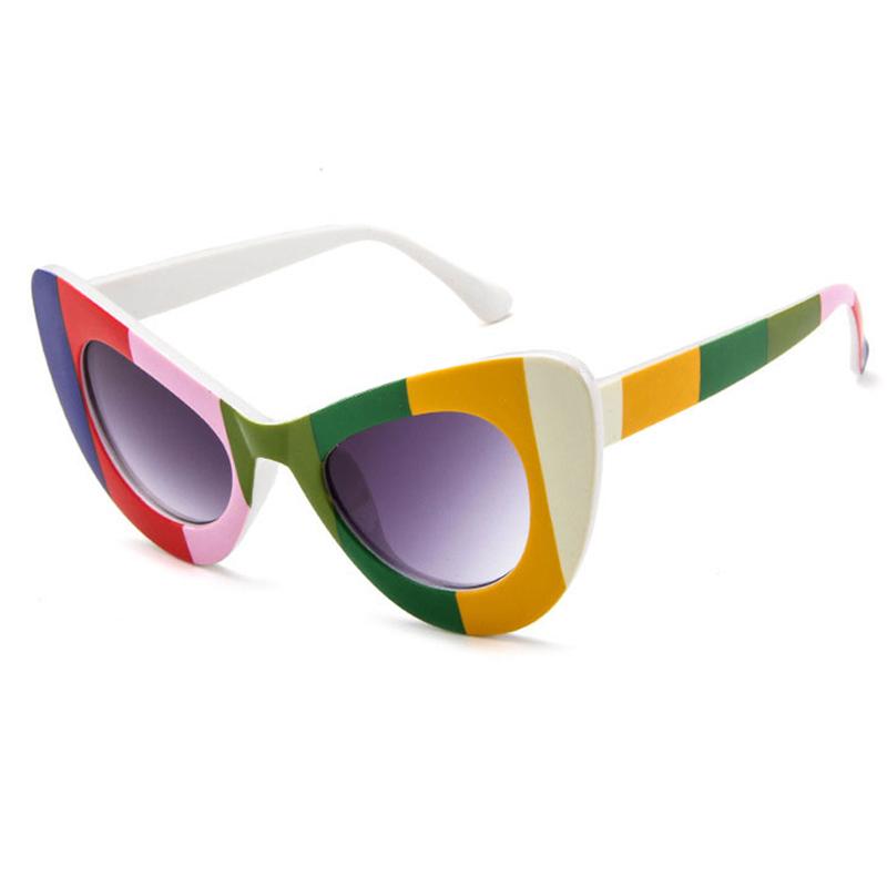 Schöne Schicke Gestreifte Rahmen-Design-Multicolor-PC-Sonnenbrille
