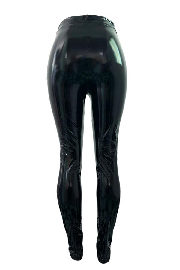 Lovely Fashion Skinny Black PU Pants