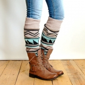 Lovely Euramerican Spell Color Beige Socks