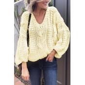 Lovely Fashion Long Sleeves Hollow-out Ke-Bai Mi S