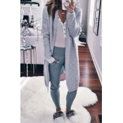Lovely Fashion Long Sleeves Light Grey Sweater Car