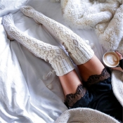 Lovely Sweet Long Ke-Bai Mi Socks