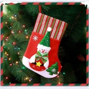Lovely Fashion Snowman Christmas Socks