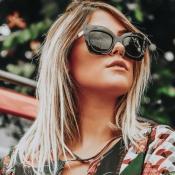 Schöne Mode Cat Eye Große Sonnenbrille Mit Schwarzem Rahmen