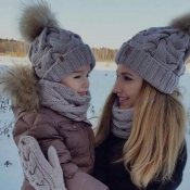 Lovely Fashionable Grey Hats(Parent-child Cap)