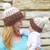 Lovely Fashionable Patchwork Khaki Hats(Parent-chi