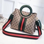 Lovely Elegant Patchwork Green PU Messenger Bag