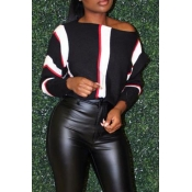 Lovely Casual Patchwork Black Twilled Satin  Hoodi