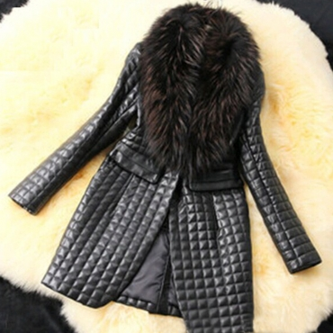 Lovely Casual Long Sleeve Black Faux Fur Coat