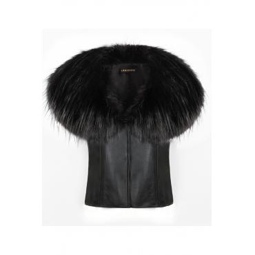 Lovely Casual Black Faux Fur Vests