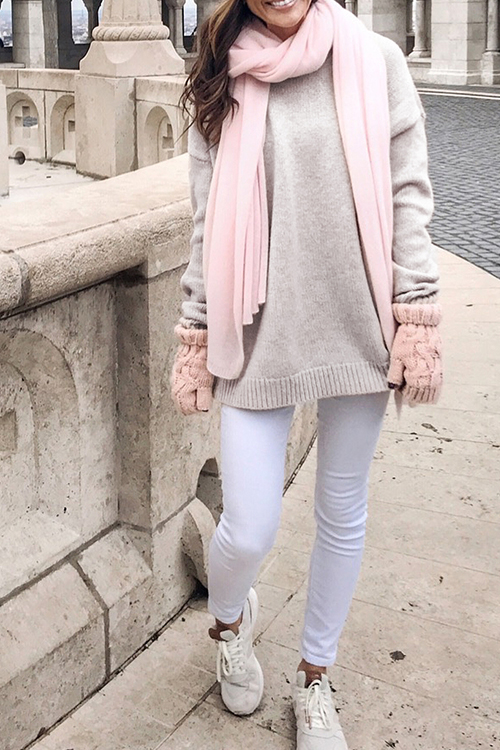 Lovely Casual Long Sleeves Sand Sweaters