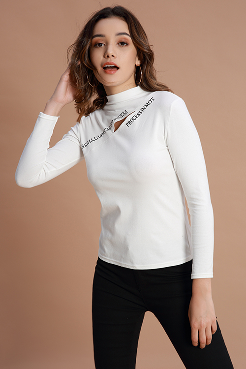 Lovely Casual  Hollowed-out White Cotton Base Layers