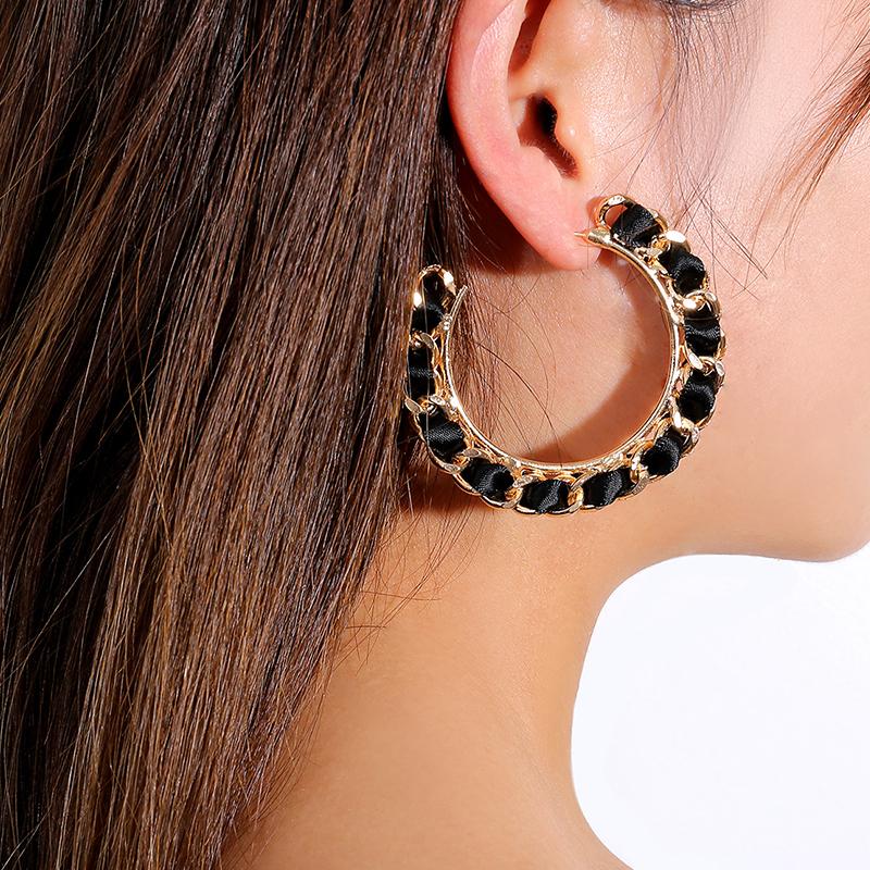 Lovely Trendy Black Metal Earring