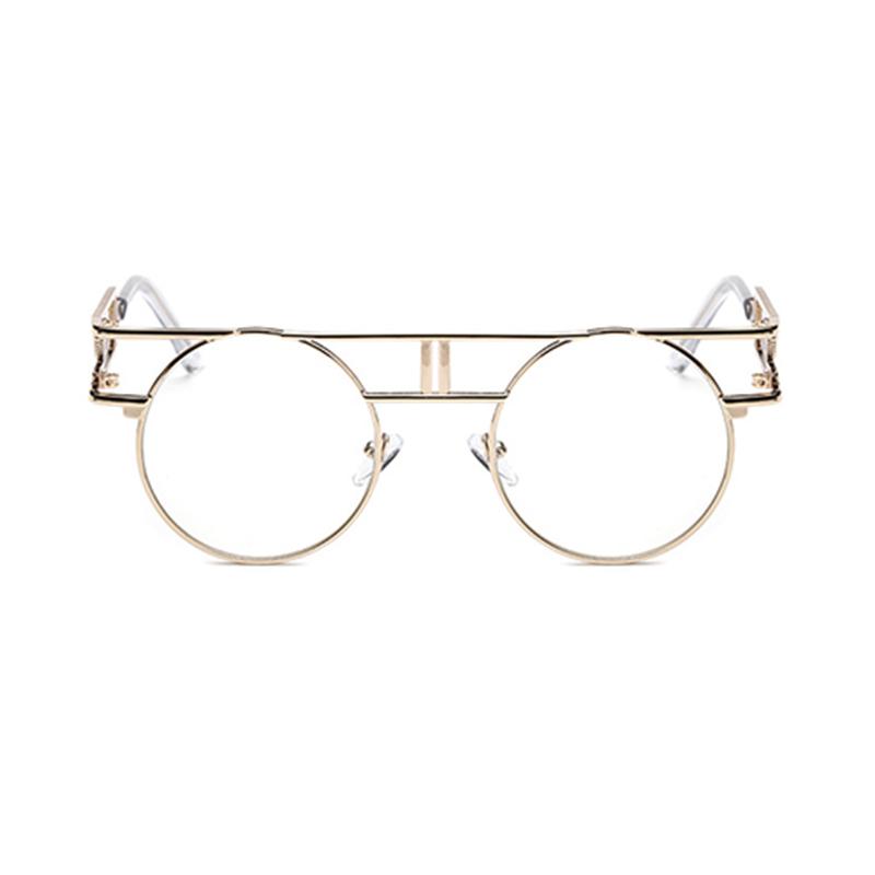 Schöne Stilvolle Ausgehöhlte Goldene Sonnenbrille Aus Metall