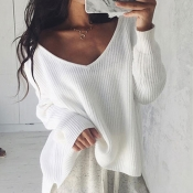 Lovely Trendy Long Sleeves White Sweaters