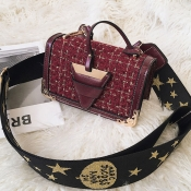 Lovely Chic Patchwork Red PU Shoulder Bags