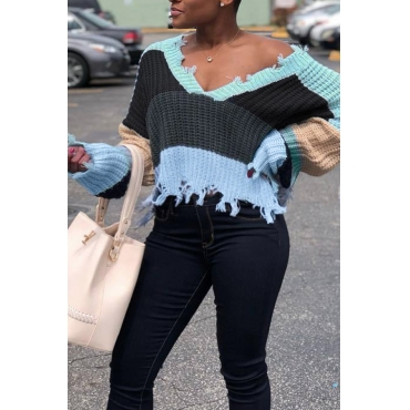 Lovely Casual Batwing Sleeves Grey Blending  Sweaters