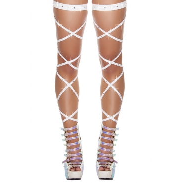 Lovely Sexy Hollowed-out White Bodystocking